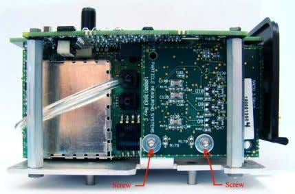 4. Remove the Processor board by removing the four socket head cap screws in the four