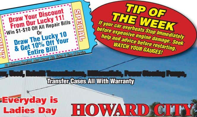Your Discount Draw Our Lucky 11! From Win $1-$10 Off Or All Repair Bills 10%