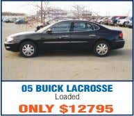 05 BUICK LACROSSE Loaded ONLY $12795
