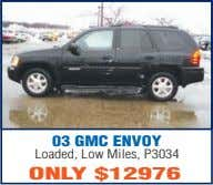 03 GMC ENVOY Loaded, Low Miles, P3034 ONLY $12976
