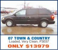 07 TOWN & COUNTRY Loaded, Very Clean, P3037 ONLY $13979