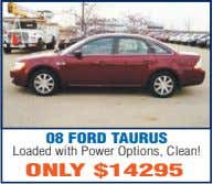 08 FORD TAURUS Loaded with Power Options, Clean! ONLY $14295