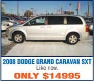 2008 DODGE GRAND CARAVAN SXT Like new. ONLY $14995