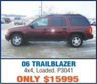 06 TRAILBLAZER 4x4, Loaded. P3041 ONLY $15995