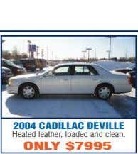 2004 CADILLAC DEVILLE Heated leather, loaded and clean. ONLY $7995