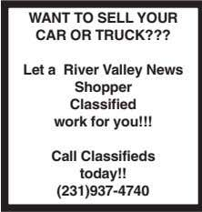 YOUR JUNK CAR ASHLAND AUTO 231-834-5775 250 Autos for Sale Miracle-Ear Center in Fremont 28 W.