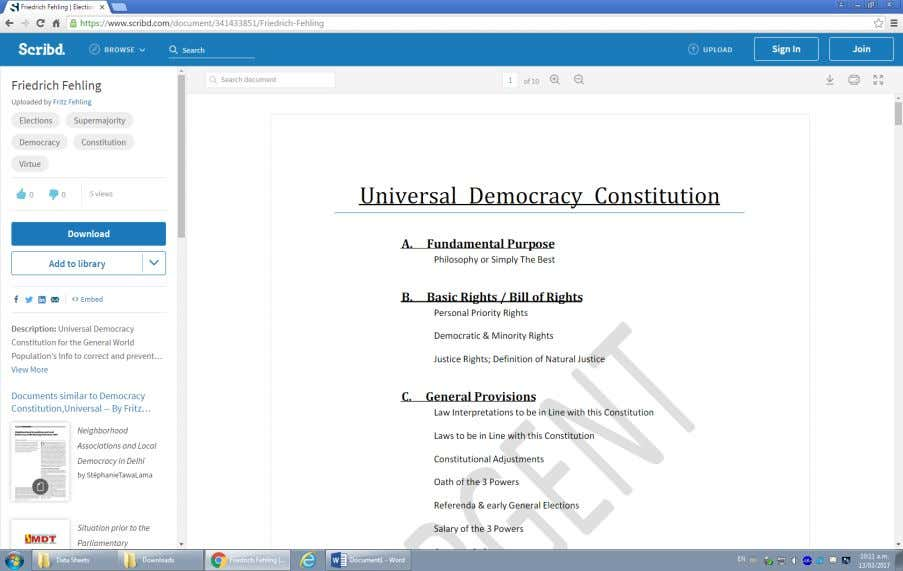 "Democracy Constitution below under search result ""Friedrich Fehling"" does not appear any more in such search"