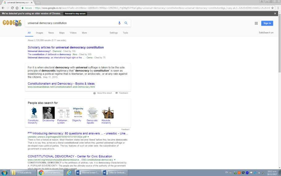 """Universal Democracy Constitution"" also from generic general Google search results, and a resulting letter to Scribd:"