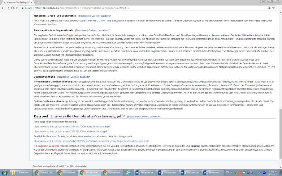 "A maximum inconsistency appears in German-Wikipedia under th e headline ""Abgrenzung Republik/Demokratie "" in the"