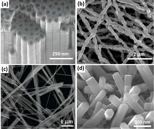 large aspect ratio nanostructures (Fig. 5)) have attracted Fig. 5 SEM images of (a) TiO 2