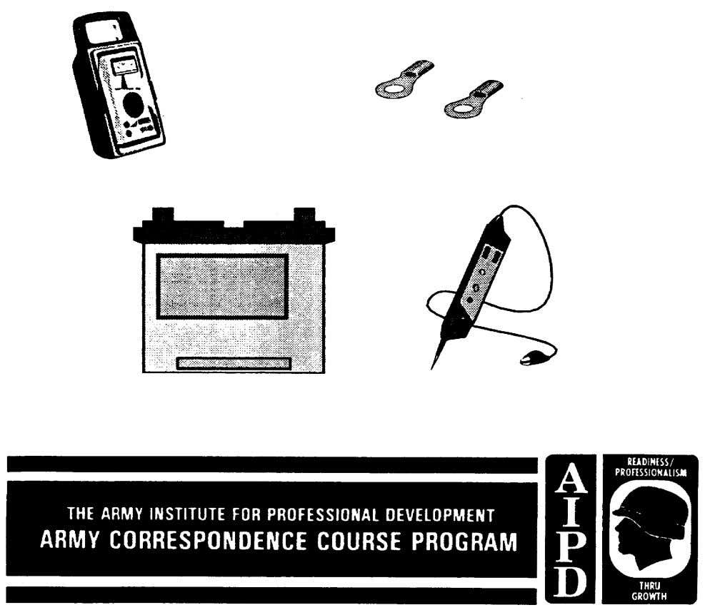 SUBCOURSE IT 0335 EDITION B US ARMY INTELLIGENCE CENTER INTRODUCTION TO CELLS AND BATTERIES