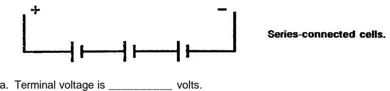 a. Terminal voltage is __________ volts.