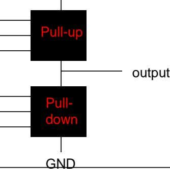 Pull-up output Pull- down GND