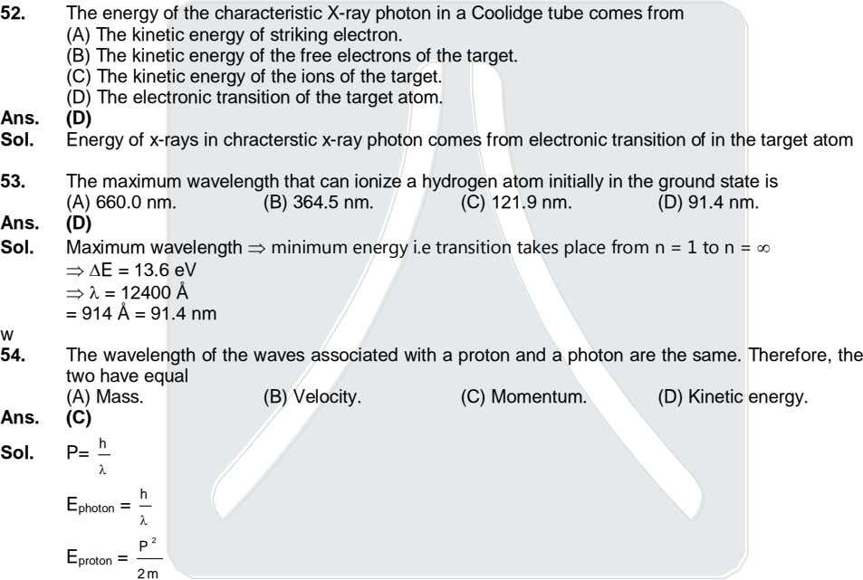 52. The energy of the characteristic X-ray photon in a Coolidge tube comes from (A)