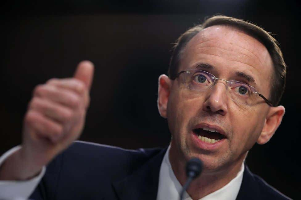 Rod Rosenstein I was one of the few who were NOT surprised when Mueller started