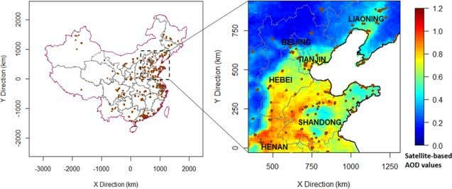 Environmental Science & Technology Article Figure 1. Study area and the locations of PM 2 .