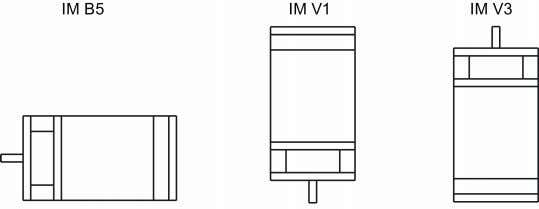 flange mounting only and three types of constructions. Note When configuring the IM V3 type of