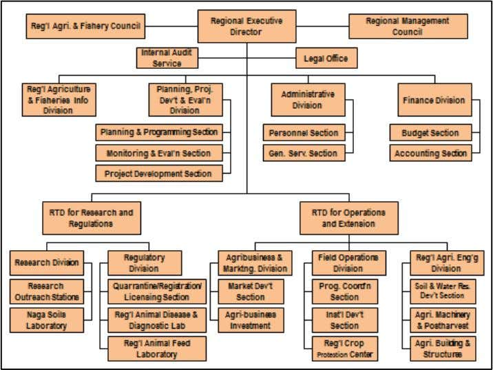 Division, and Regional Agricultural Engineering Division. Figure 8. Organizational structure of the DA-RFU V. Based on