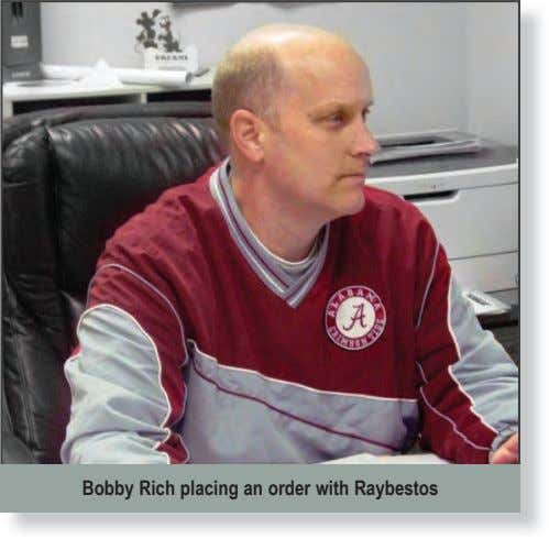 Bobby Rich placing an order with Raybestos