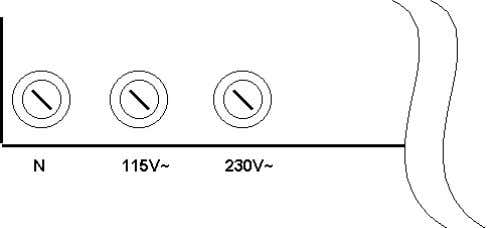 ÷ 120 Vac, and a cable with a maximum section of 1.5 mm². FIG. 10 –