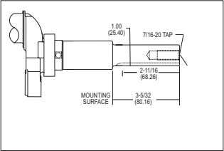 13.0, 13.5 HORSEPOWER OVERHEAD VALVE RIDER APPLICATION 1.00 (25.40) 7/16-20 TAP 2-11/16 (68.26) MOUNTING