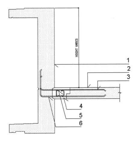 Fig. 2.28 – Internal PC beam supporting PC half slab Fig. 2.29 – Bay window beam