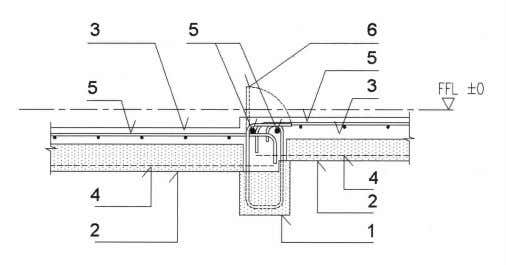 Fig. 2.28 – Internal PC beam supporting PC half slab Fig. 2.29 – Bay window