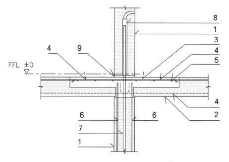 2.2.2 Intermediate Load-Bearing Walls to Floor Connections Fig. 2.13 – Internal PC wall to flat plate