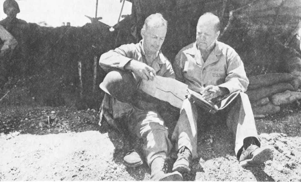 Colonel Richard H. Jeschke, commanding officer of the 8th Marines, and Lieutenant Colonel Augustus Fricke,