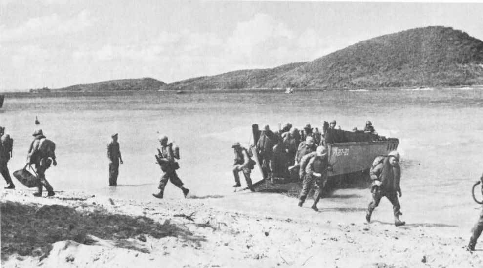 Marines from the 1 s t Battalion, 8th Marines come ashore in an amphibious exercise