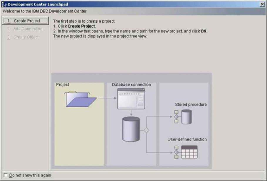 developerWorks® ibm.com/developerWorks The project needs an initial connection to a database. The list of databases