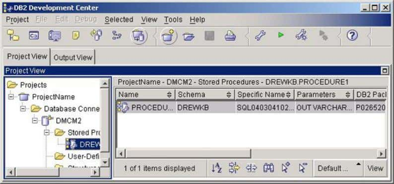 developerWorks® ibm.com/developerWorks The views can also be reset to the default settings by selecting View=>Reset