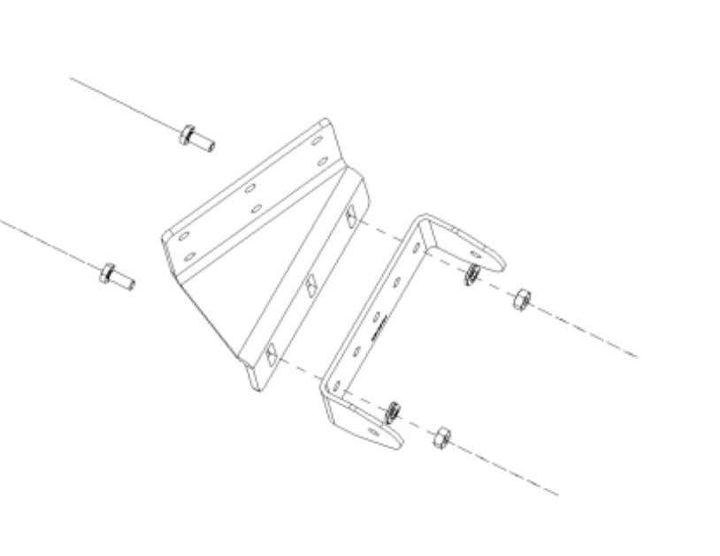 the u-bracket in the same position as shown in Figure 1. Figure 1. Monitor Bracket Assembly