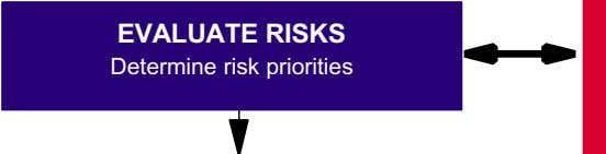 EVALUATE RISKS Determine risk priorities