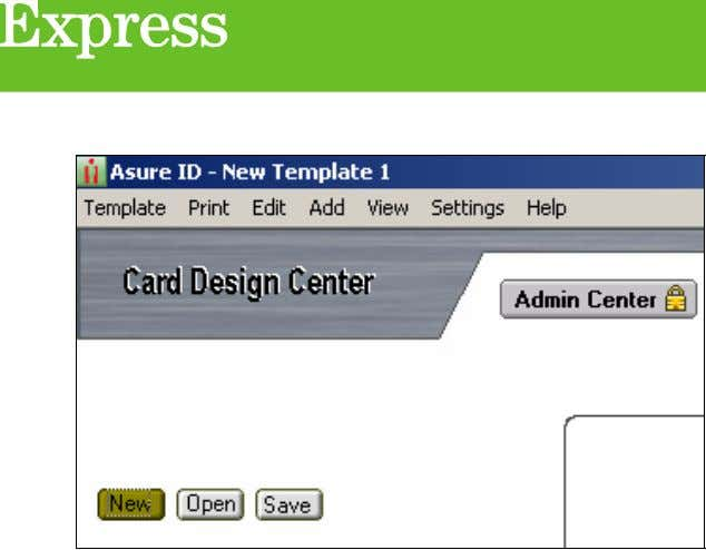 Step 7 After pressing the 'New' button, a 'Template Layout Options' window will appear asking
