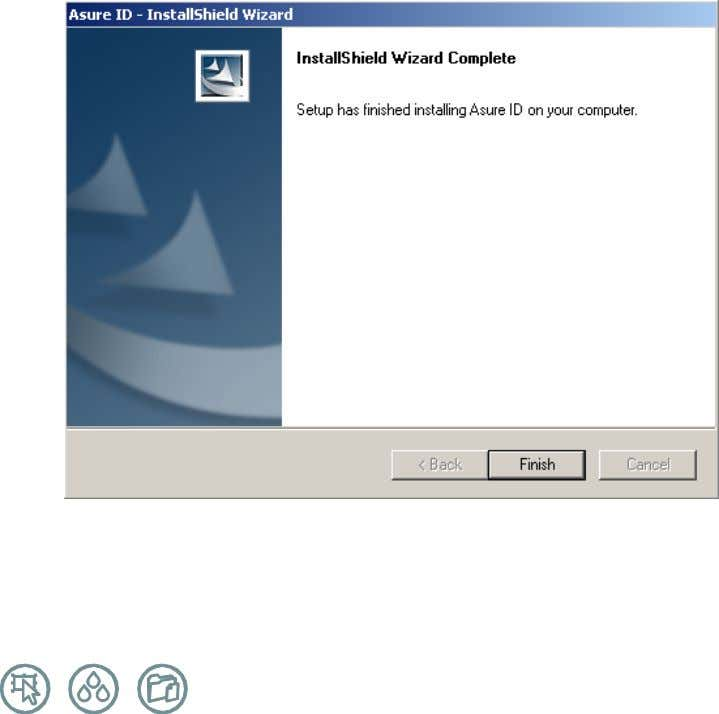"you will see a ""InstallShield Wizard Completed"" window, as shown below. Press ""Finish"" to exit the"