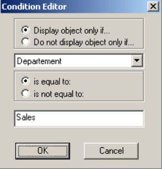 that can be used to configure the conditional display. When configuring the conditional display, ther e