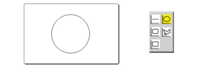 and then selecting ' Ellipse ' from the options. Polygon Similar in function to the other