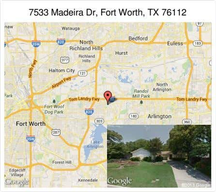 7533 Madeira Dr, Fort Worth, TX 76112