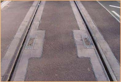 Figure 6 how the grooved rail track looks in the street. Stations: Figure 4 the