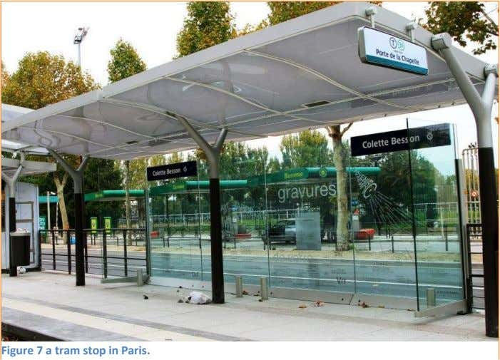 Figure 7 a tram stop in Paris.