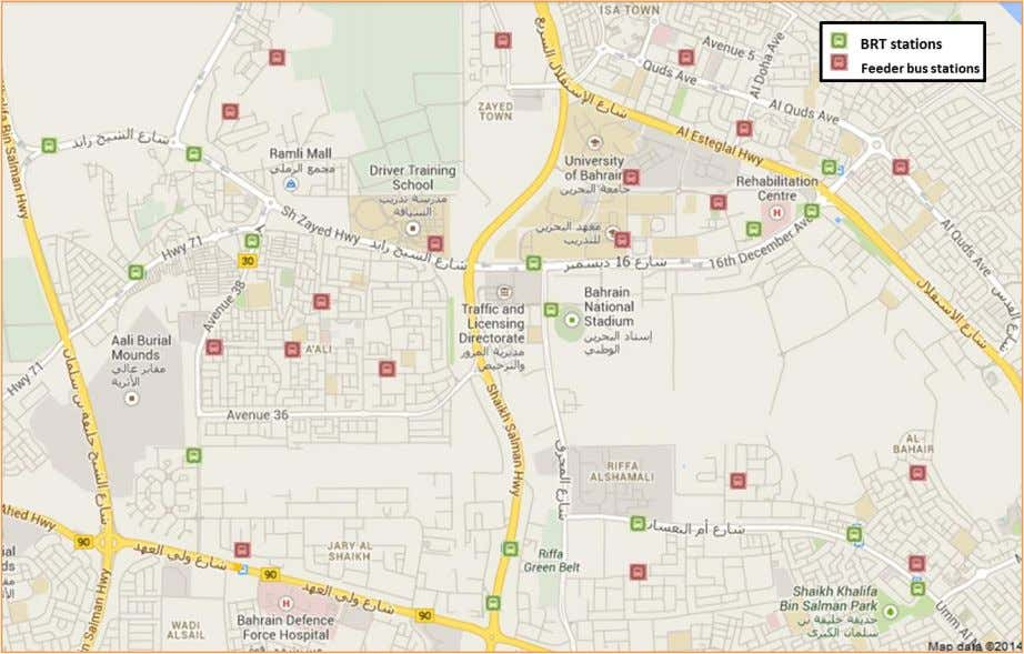 Map 24 BRT stations and feeder buses stations in educational area. Map 25 BRT stations