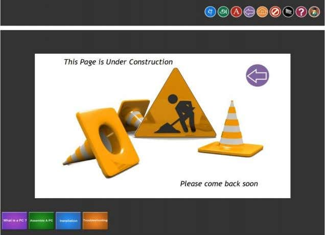 12 Figure M – Under construction  The help section consists of a video guide which
