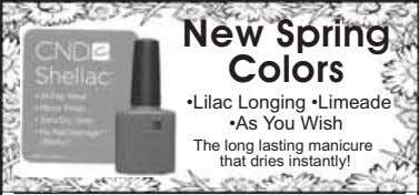 New Spring Colors •Lilac Longing •Limeade •As You Wish The long lasting manicure that dries