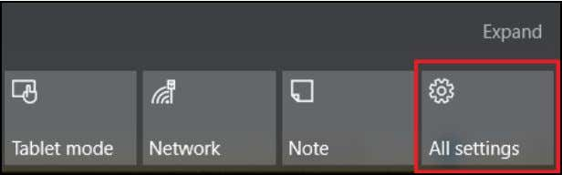 corner of the screen , select the Notifications icon to open the Notifications pane. 2.Select All