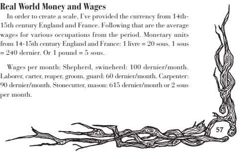Real World Money and Wages In order to create a scale, I've provided the currency