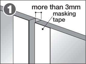 more than 3mm 1 masking tape