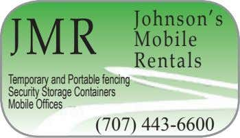 Johnson's J MR Mobile Rentals Temporary and Portable fencing Security Storage Containers Mobile Offces (707)