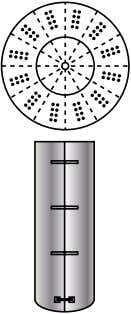 © 2011 American Institute of Chemical Engineers (AIChE) Vertical Tube Bundles t Figure 8. Large fermenters