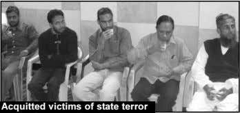 Acquitted victims of state terror